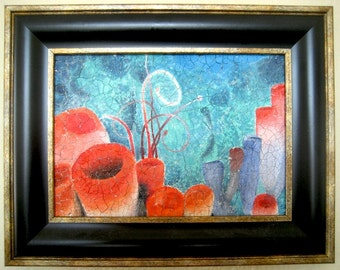 Coral Reef Mixed Media Original Painting