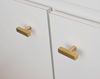 Attrayant Modern, Square, Gold Drawer Knobs, T Knob Handles, Drawer Pull, Cabinet Pull,  Cabinet Knobs