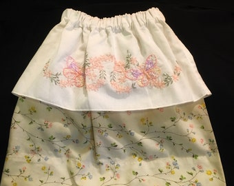 Hand embroidered butterfly skirt