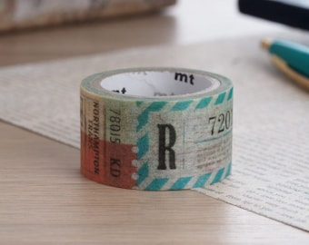 MT Fab Ticket Washi Tape | Japanese Masking Tape Craft Supplies MT 2016 Summer Collection (MTDP1P02)