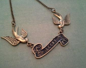 Lucky Swallow Bird Necklace