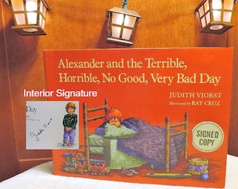 SIGNED **- Alexander and the Terrible, Horrible, No Good, Very Bad Day (Alexander in color SPECIAL EDITION! of 1972 classic children's book)