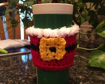 Santa coffee cozy