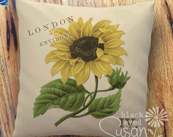 """Sunflower Botanical Pillow Cover I 