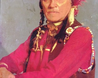 Vintage Native American photo..signed...FREE shipping !!
