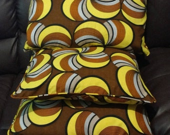 Ankara Print Cushion covers, African Print Cushion Covers, Soft Furnishing, Cushions