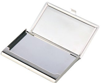 Business card holder steel images card design and card template metal card case etsy metal business card holder engraved business card holderpersonalized business card case reheart colourmoves