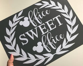 Office Sweet Office, Disney Decor, Disney Sign, Office Decor, Office Sign, Disney Sign, Work Decor