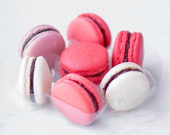 7 Macarons Sampler - Handmade Cookies by our french Chefs - Macaroons assortment - Gluten free - Dairy free