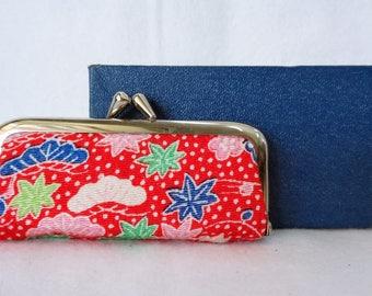 EJP14 : Vintage japanese mini stamp case purse with original box