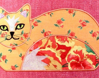 CAT APPLIQUES Machine Embroidery Designs