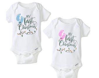 Baby's First Christmas Onesie, Merry Christmas, Onesie, Baby Clothing, Christmas gifts, Baby Onesie, Baby first Christmas, Christmas gift