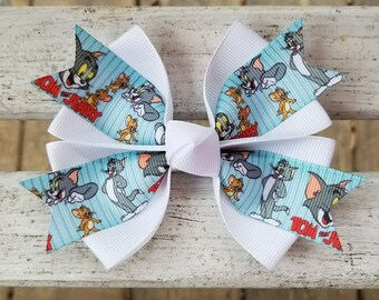 Tom and Jerry Hair Bow (4 inch)