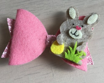 Pink Bunny Bow