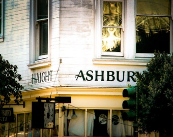 "San Francisco Art, Haight, Ashbury Street, Photography, Fine Art Print, Urban Wall Decor, Hipster, Hippie, Grateful Dead Art  - ""The Haight"""