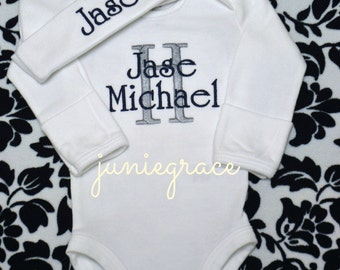 Baby Boy Clothes Baby Boy Coming Home Outfit Baby Boy Gift Take Home Outfit Hospital Outfit  Newborn Baby Boy Outfit