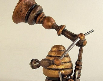 Steampunk Victrola Wood Model of The Science Fiction Verbal and Music Machine
