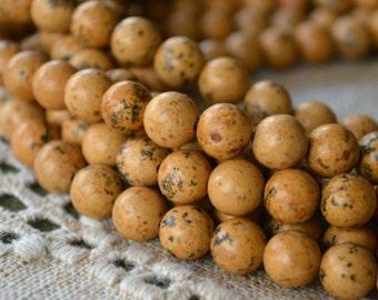 50pcs 8mm Grain Stone  Natural Gemstone Beads Round 16 Inches Strand