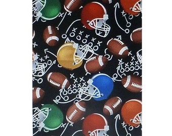 Footballs And Helmets By Timeless Treasures Cotton Fabric