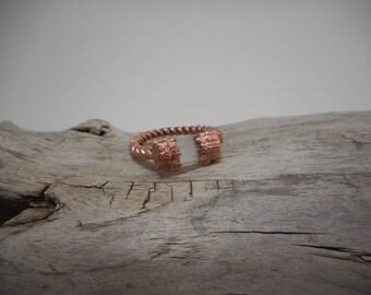 Selenite Ring - Copper Electroformed Selenite Ring Made to Order