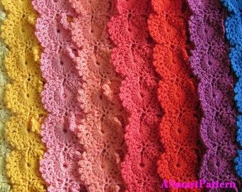 PDF Crochet Pattern-Crochet Rainbow Waves Blanket,Afgan,Bedspread,Throw,Baby by ASmartPattern-PDF file #13