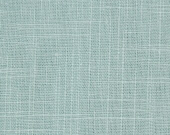 Spa Blue Upholstery Fabric, Solid Slubbed Weave Rain Fabric, Blue Home  Decor Fabric,