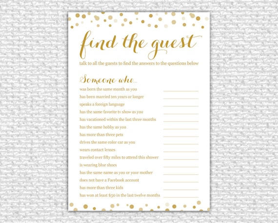 find the guest bridal shower game instant download bridal