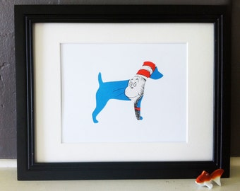 The Cat in the Hat- Jack Russell Dog Silhouette
