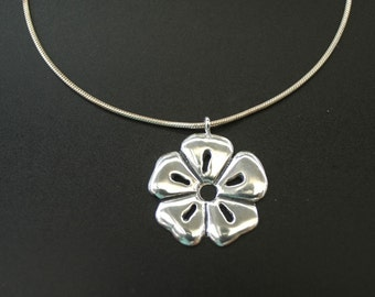 Sakura Cherry Blossom Necklace in Sterling Silver