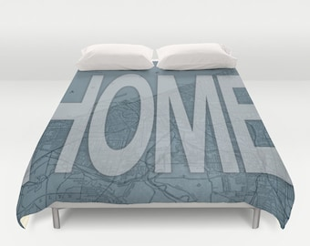 Cleveland is Home Duvet Cover - Cle