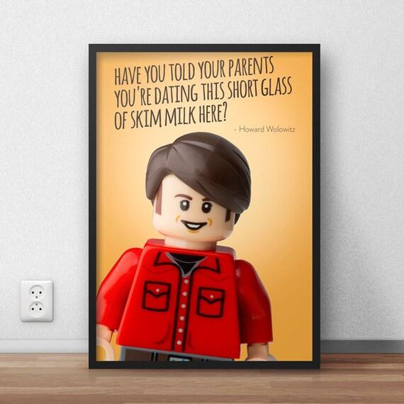2 Lego Big Bang Theory Character Posters Howard Wolowitz