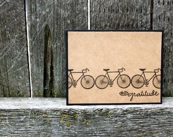 BULK Bicycle Thank You Cards, 50 cards,Bicycle Thank You Cards, Handmade Bicycle Cards, Bulk Bicycle Cards, Wedding Thank You, Bike Wedding