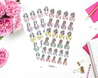 Addie in Scrubs   Addie Collection   Planner Stickers