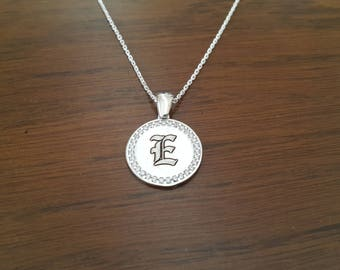 925 Sterling Silver Initial Neclace, Personalized Necklace, Letter Necklace, Custom Necklace