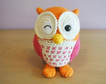 Owl Crochet Owl Amigurumi - Handmade Crochet Amigurumi Toy Doll - Woodland Animal - Owl Crochet - Amigurumi Owl