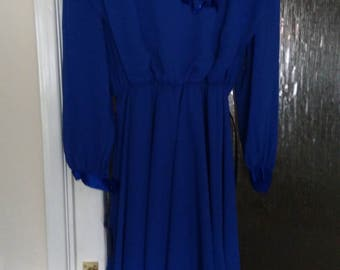 Vintage Gina Bacconi Original Chiffon Formal Occasion Dress.   UK Size 16.  Special Offer - Now Reduced
