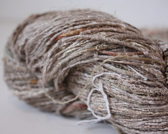 Handspun Recycled Mulberry Silk - Natural
