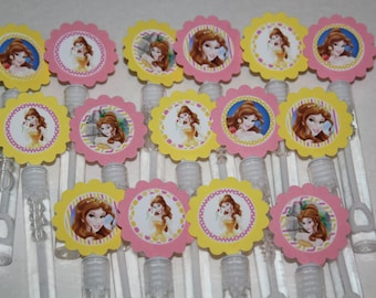 Belle Inspired Mini Bubble Wand Party favors - set of 15