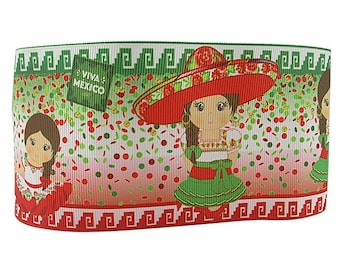 "Mexican girl 3"" ribbon"