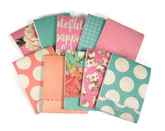 Set of 20 Matchbook Notepads Mini Note Pads in Rooftop Garden