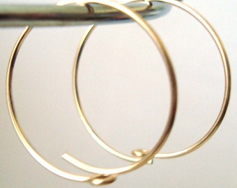 15mm 14k yellow Gold Filled Round Circle beading hoop Earring Ear Wire Earwire  GE10-15