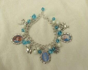 Childs Disney Frozen Elsa & Anna Charms Bracelet