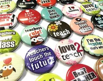 """Teacher Magnet, Classroom Magnet, 1"""", Button Magnet, Teacher Gift, Teaching Magnet, Classroom Decor, Classroom, Teachers, Classroom Theme"""