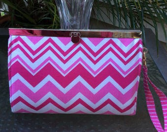 Large Frame Clutch ,Crossbody, Wristlet Wallet