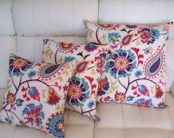 Cushion Cover Indoor/Outdoor Waverly Sun & Shade Siren Song Jewel