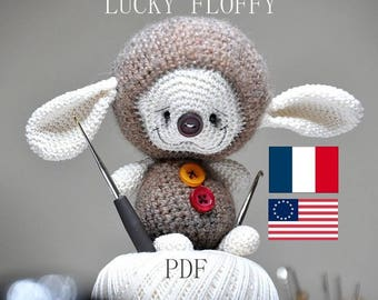 lucky floffy amigurumi -  PDF digital crochet pattern