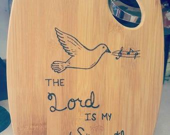 Christian Cutting Board | Bamboo Cutting Board | Doves | Music