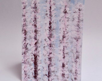 "Watercolor ""Trees in Winter"" Card Sets 4x6inch"