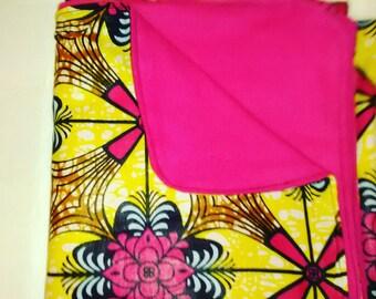 African Ankara Baby Receiving Blanket - Choose a Print