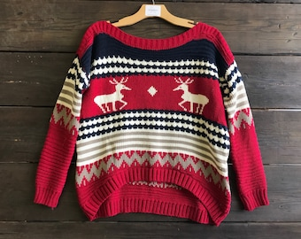 Vintage Christmas Knit Sweater